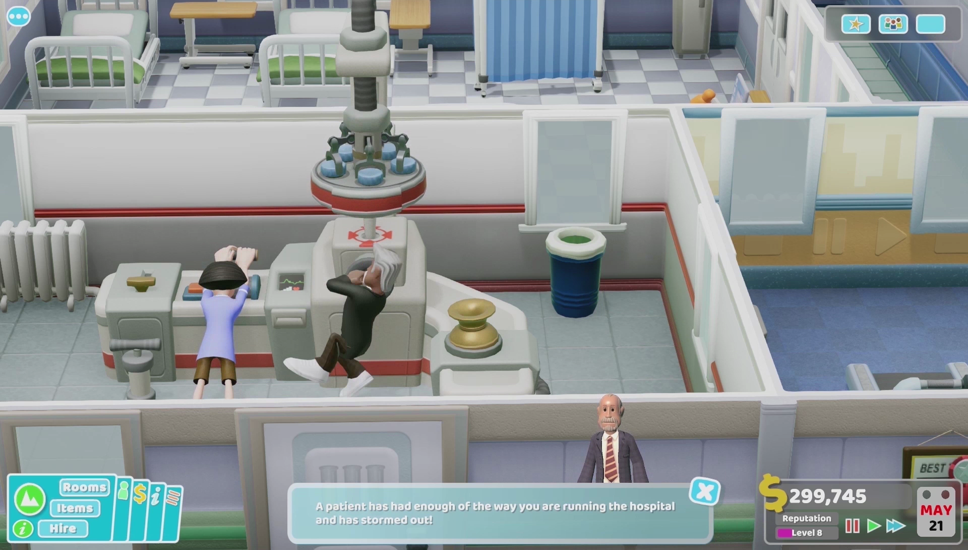 Two Point Hospital for macOS gameplay
