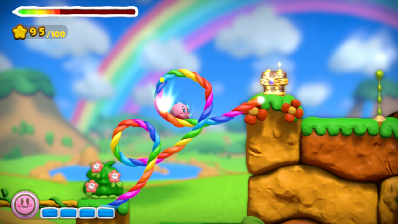 Kirby and the Rainbow Curse MacBook OS X Version gameplay