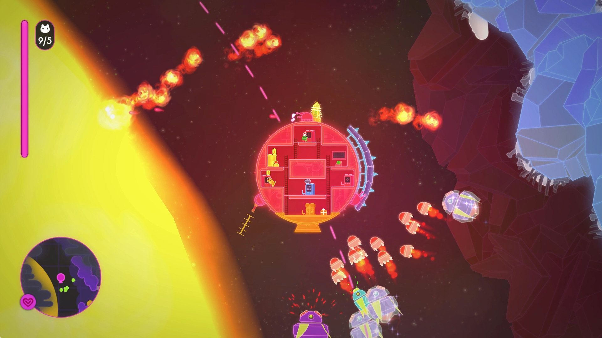 Lovers in a Dangerous Spacetime for MacBook gameplay