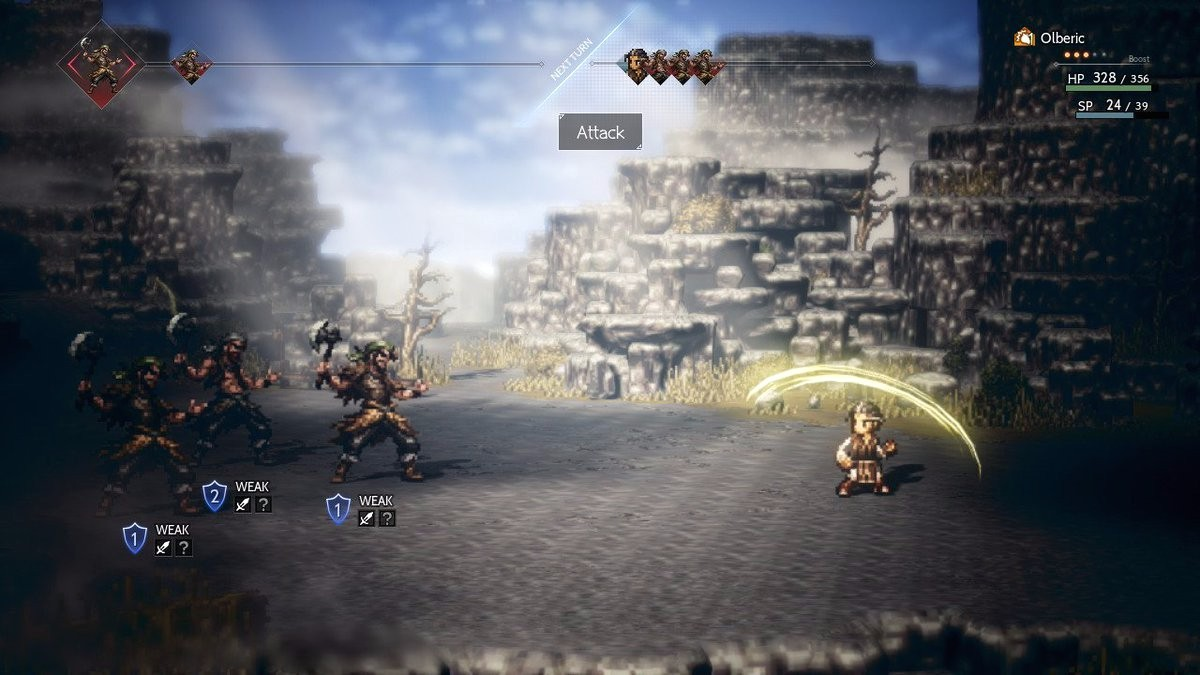 Octopath Traveler for MacBook gameplay