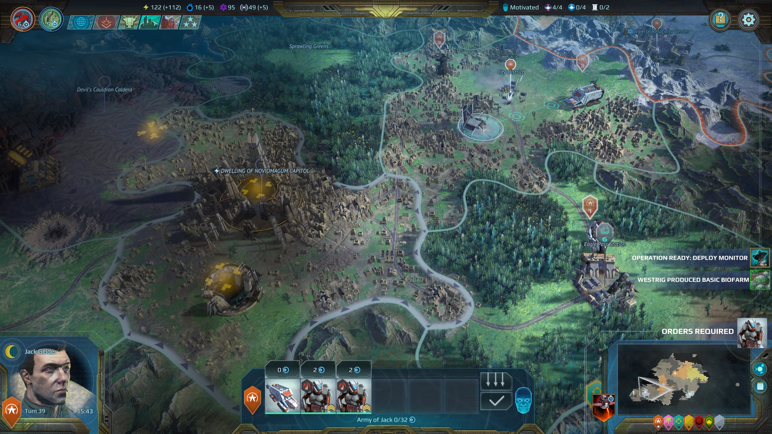 Age of Wonders: Planetfall for MacBook gameplay