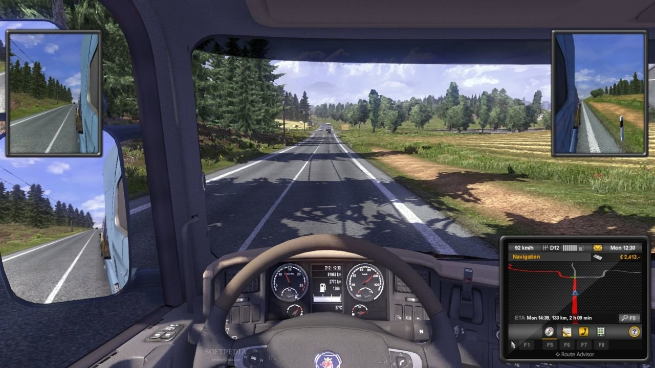 Euro Truck Simulator 2 for MacBook gameplay