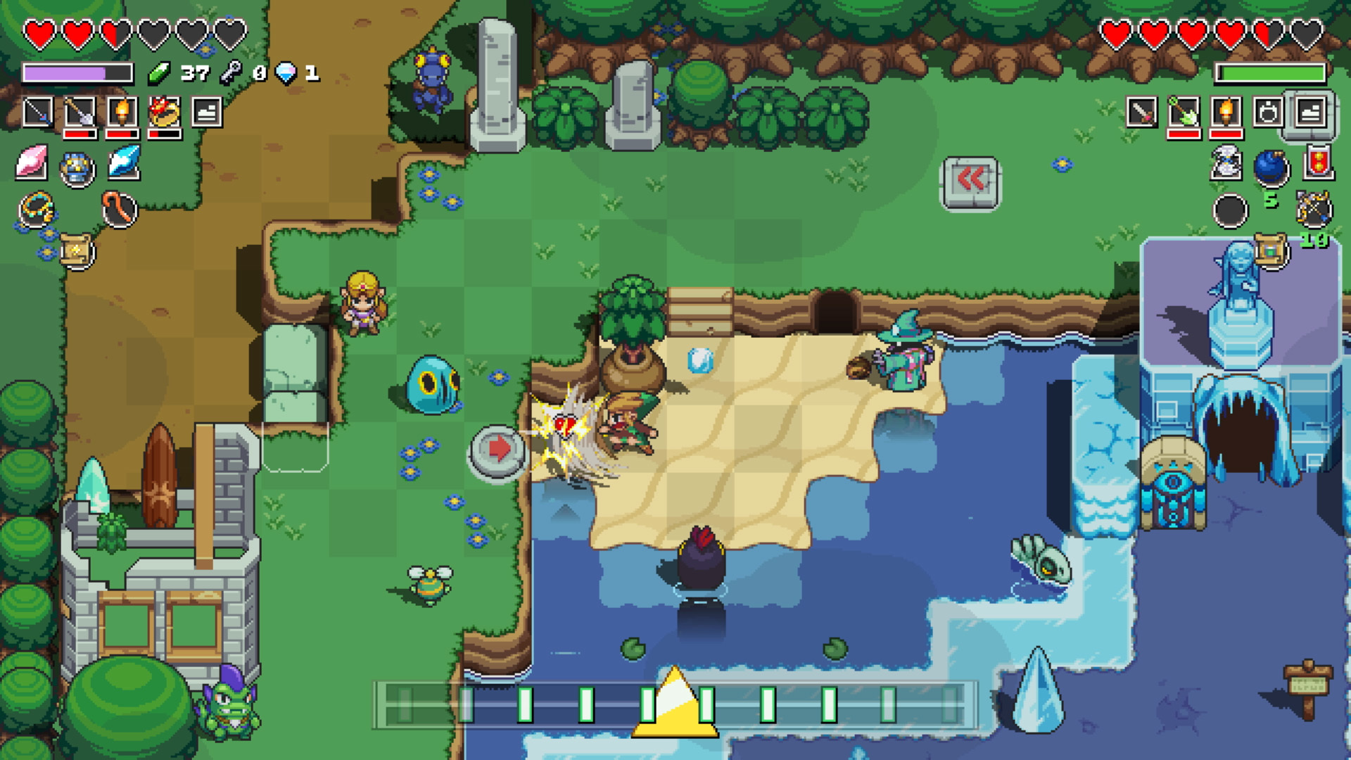 Cadence of Hyrule for macOS gameplay