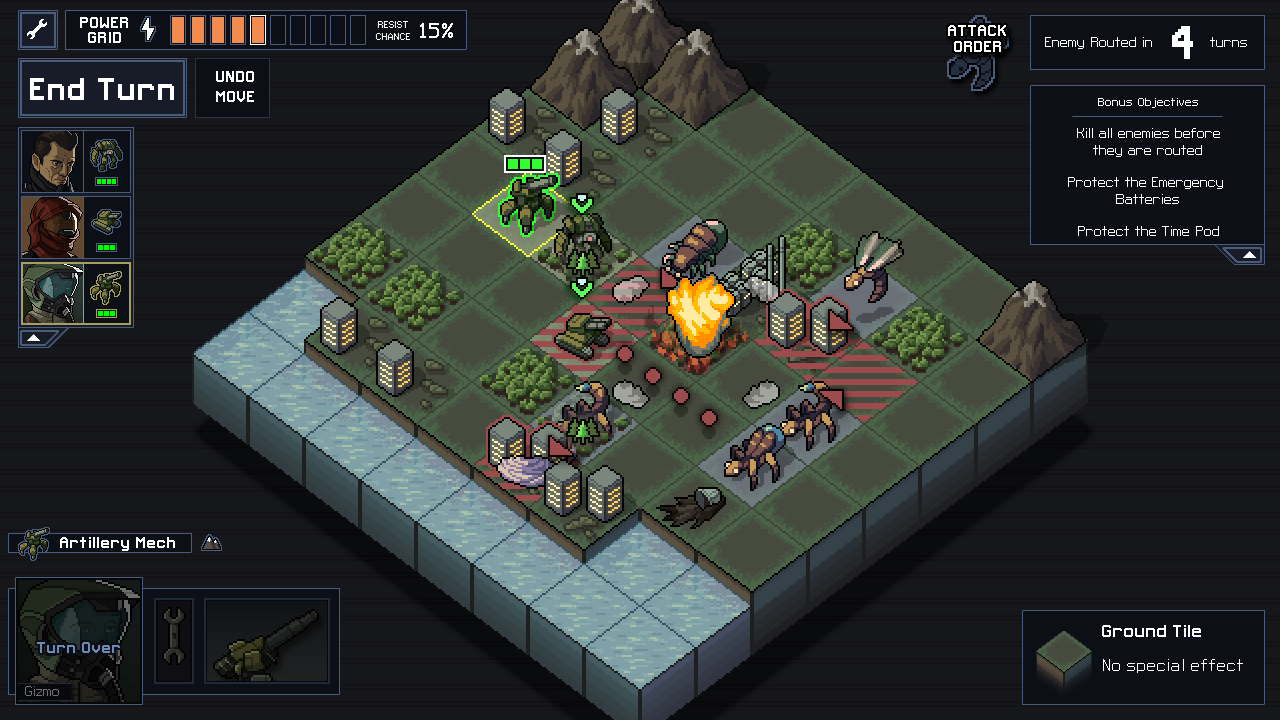 Into the Breach MacBook OS X Version gameplay