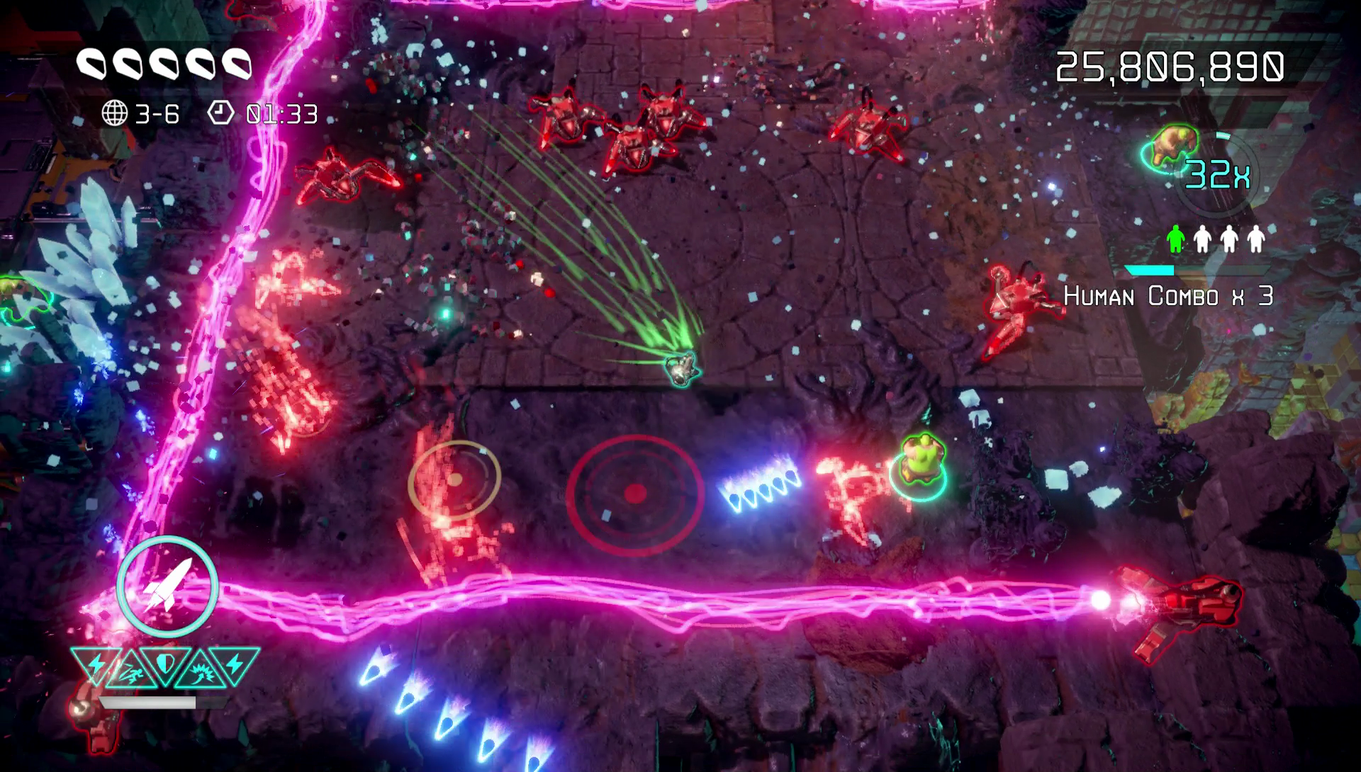 Nex Machina MacBook Version gameplay