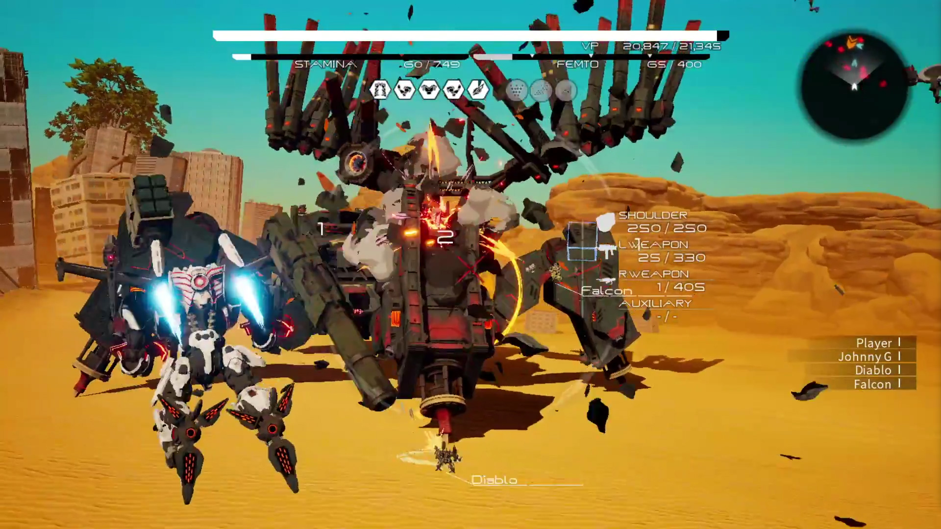 Daemon X Machina for macOS gameplay