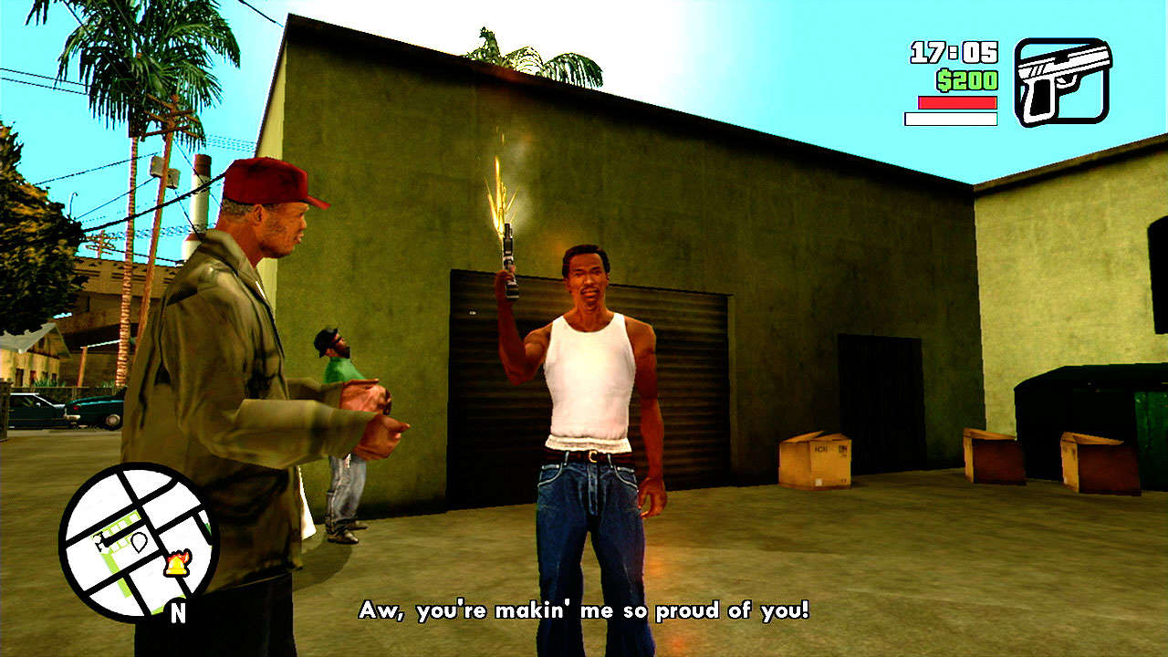Grand Theft Auto: San Andreas for MacBook gameplay
